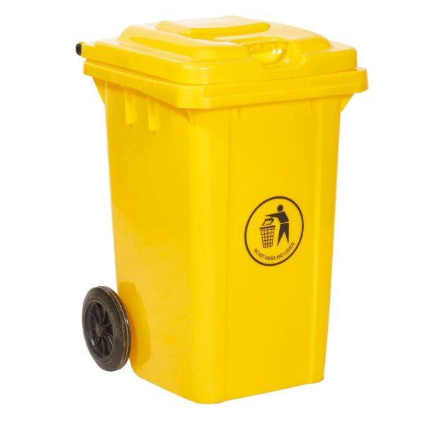 80 Litre Yellow Wheeled Bin