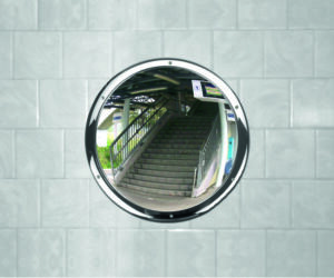 Wall Mounted Circular Stainless Steel Mirror