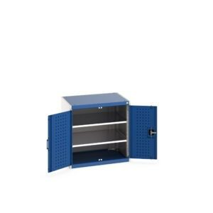 Cupboard with Perfo Doors and 2 Shelves