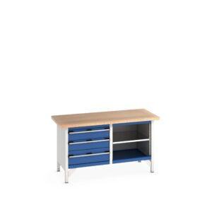 Storage Bench with Multiplex Worktop