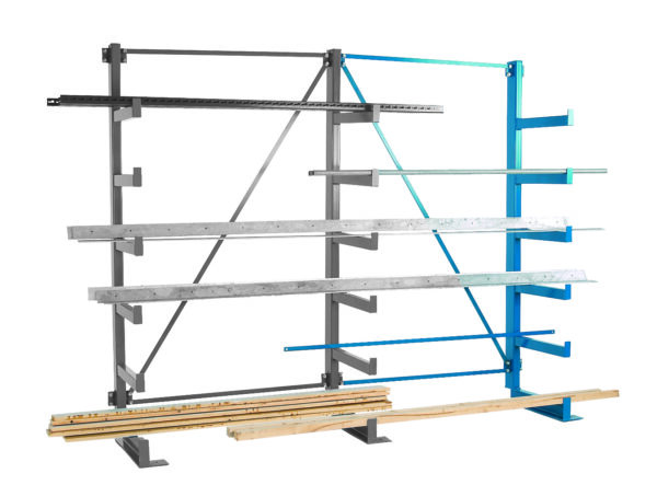 Single Sided Extra Bay for Cantilever Racking