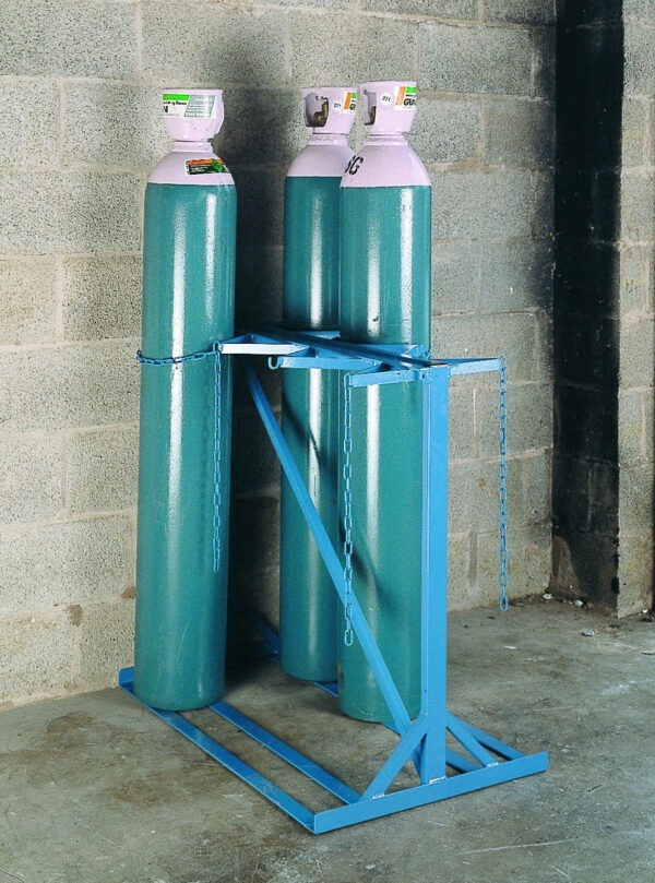 Double Sided Cylinder Storage Stand