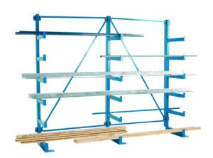 Single Sided Cantilever Racking with Parallel Arms