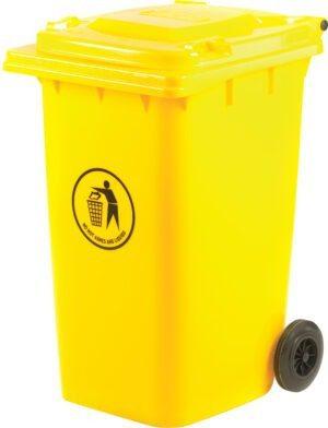240 Litre Yellow Wheeled Bin