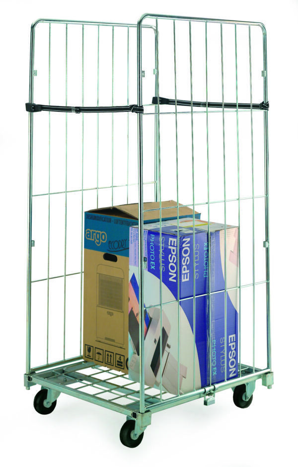 Two Sided Demountable Roll Containers with Straps