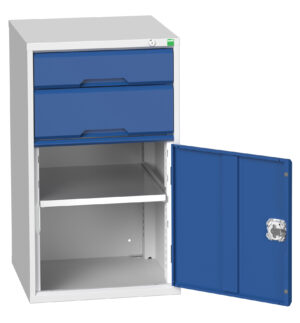 2 Drawer and Cupboard Combination Cabinet