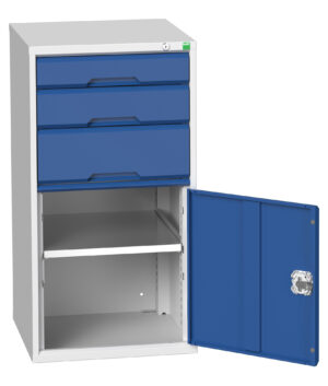 3 Drawer and Cupboard Combination Cabinet