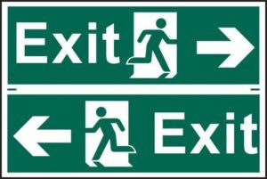 Evacuation Safety Signs