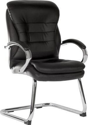 Visitor Leather Faced Cantilever Chair