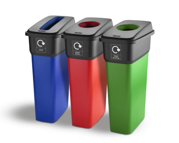55 and 70 Litre Executive IML Finish Plastic Recycling Bins