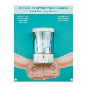 hand sanitising board