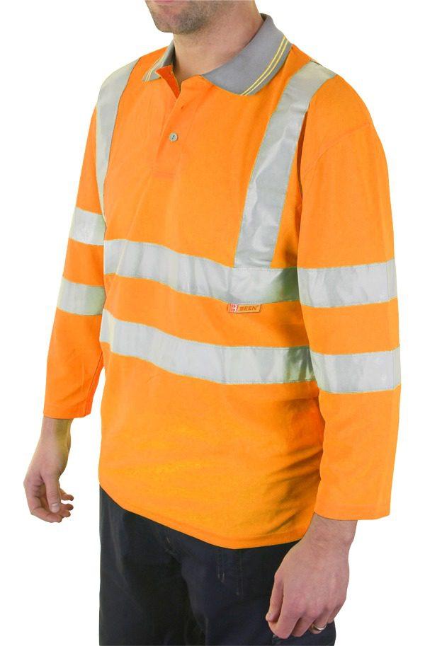 Hi Visibility 3/4 Quarter Sleeve Polo Shirt