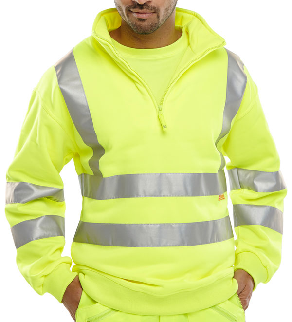 Hi Visibility Quarter Zipped Sweatshirt