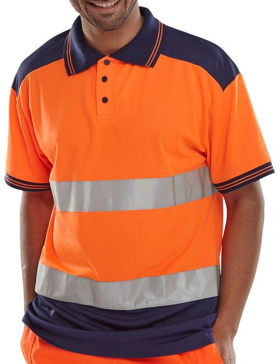 Two Tone Hi Visibility Polo Shirt
