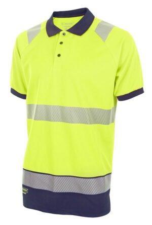 Hi Visibility Two Tone Polo Shirt Short Sleeve