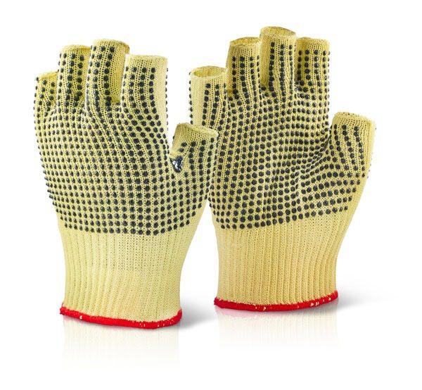 Reinforced Fingerless Dotted Glove