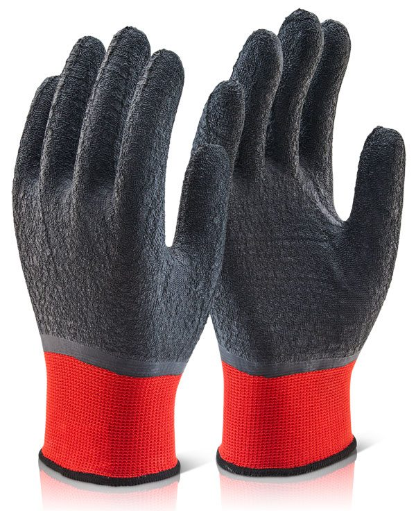 Multi-Purpose Fully Coated Latex Polyester Knitted Glove