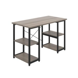 Desk with Square Shelves