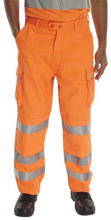 Hi Visibility Rail Spec Trousers