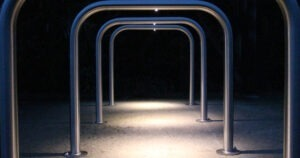 Illuminated Sheffield Cycle Stand