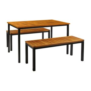 Bench Outdoor Dining Set