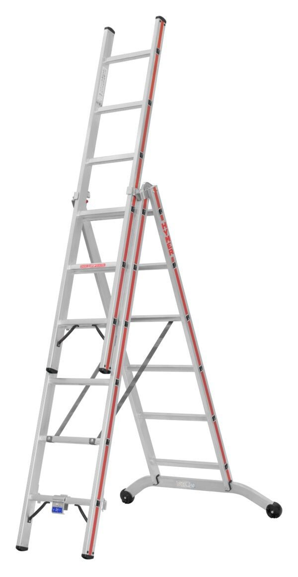 3 Section Industrial Combination Ladders