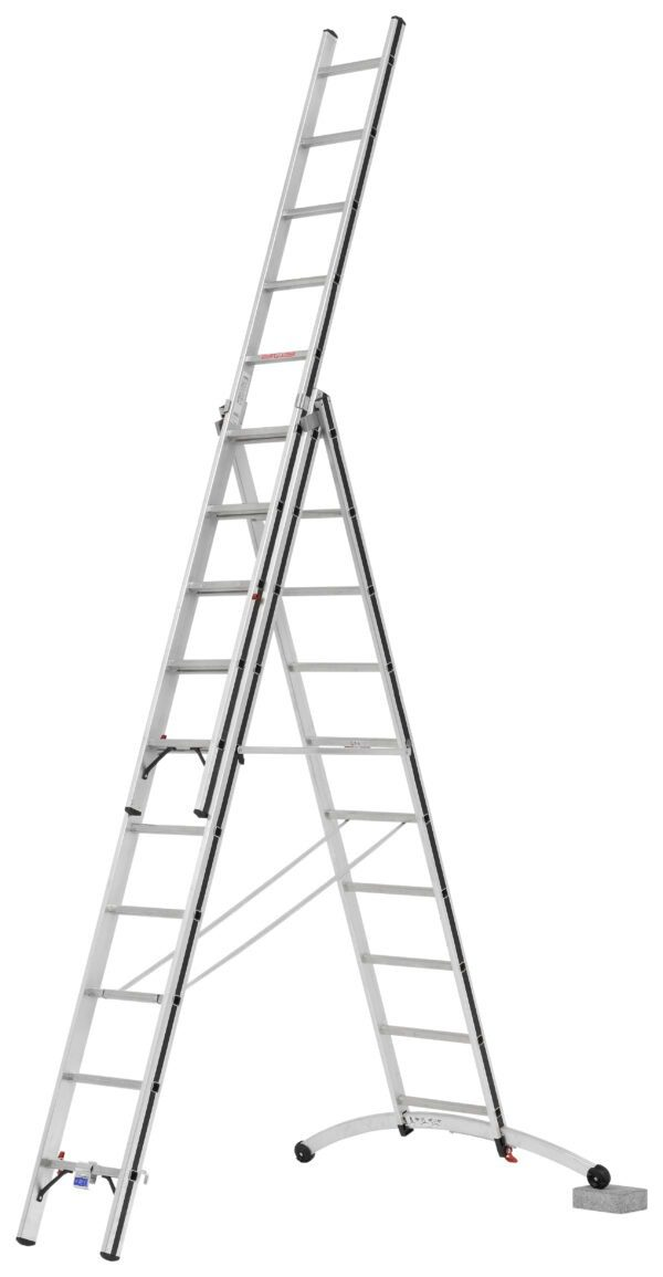 3 Part Combination Ladders with Smart Base