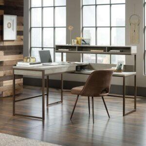 Teknik Manhattan View L-Shaped Desk Mystic Oak Finish