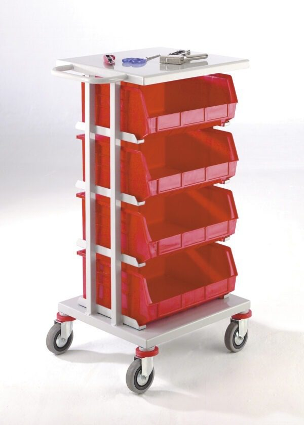 Store and Distribution Trolleys with Steel or Lined Tray Top