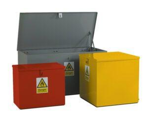 Flat Top Hazardous Bins