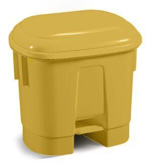 Sirius 30 Litre Yellow Plastic Pedal Bin